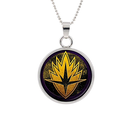 Guardians of the Galaxy Pendant Necklace Marvel Comics Groot Movies Cartoon Superhero Logo Theme Premium Quality Detailed Cosplay Jewelry Gift (Groot Costume For Girls)