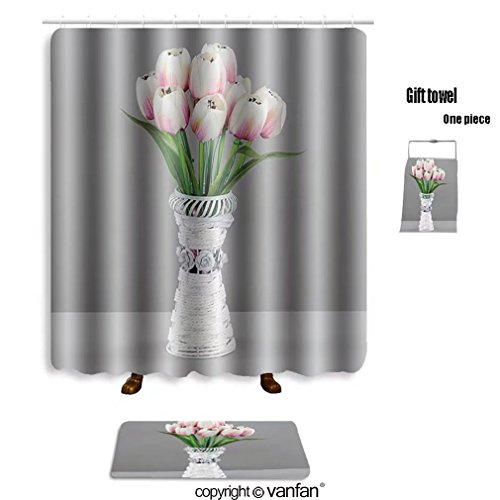 Vanfan Bath Sets With Polyester Rugs And Shower Curtain Lamps Chandeliers For Interior Design 515 Curtains Bathroom 72 X 92 Inches315