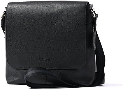 Coach Men s Charles Small Messenger Bag Black Leather