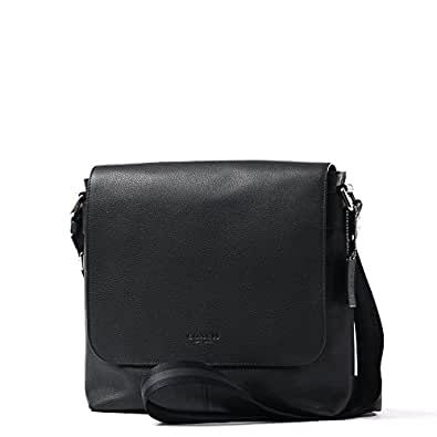 Amazon.com  Coach Men s Charles Small Messenger Bag Black Leather  Shoes 5338fab5a8