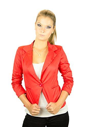 Fashionissta - Chaqueta - Básico - para mujer Rojo