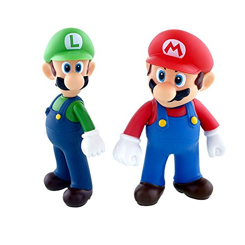 [2Pcs Nintendo Super Mario Bros Brothers Luigi Toy Figure Bros Child Gift] (Comic Book Character Costumes Uk)