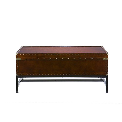 Southern Enterprises Sideboard - Southern Enterprises Voyager Storage Cocktail Coffee Table, Espresso Finish