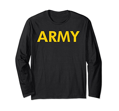 Unisex Army Logo Shirt APFU Workout Long Sleeve Tee Medium (Army Adult Long Sleeve T-shirt)
