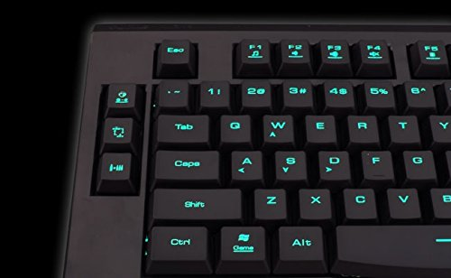 GAMDIAS Ares Gaming Keyboard Combo 3 Adjustable RGB Backlit Colors, Consecutive Attack Button + Ourea FPS Gaming Optical Mouse 6 Programmable Buttons Weight tuning System (GKC6000)
