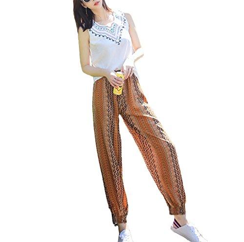 Fiato Giallo A Harem Con Harem Pantalone Vita Donna wq7a4xgv