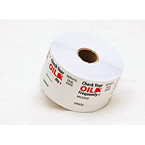 SAP GENERIC Oil Change/Service Reminder Stickers, 500 Stickers