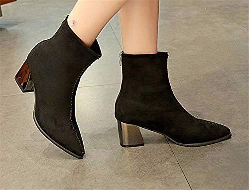 Todos Bajos Zapatos aumentadas 35 con Femeninas SED Invierno los de Partidos Gruesas Algodón heladas de Botas nerriga Eu Gruesas PwaqaYO