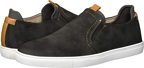 Unlisted by Kenneth Cole Men's Design 30247 Sneaker, Dark Grey Nubuck, 12 M US