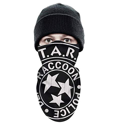 Unisex Winter Windproof Stars-Raccoon-Police-Dep-Resident-Evil-2- Half Face Mask Running Gear face mask -