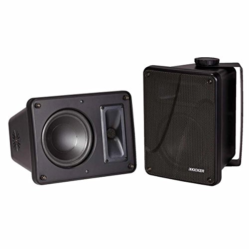 "Kicker KB6000 6.5"" Full Range Indoor/Outdoor/Marine Speakers - Black 11KB6000B"