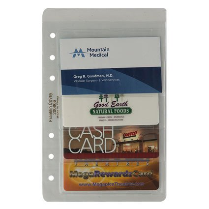 Compact business credit card holder two pack for Franklin covey business card holder