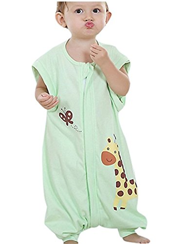 Quavey Walker Toddler Sleep Bag  Cotton  Long Sleeves Wearable Blanket with Feet Kids Boys Girls (Wearable Condition)