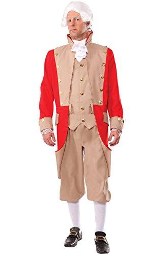 Forum Novelties Men's British Red Coat Xl Deluxe Costume, Multi, X-Large for $<!--$38.99-->