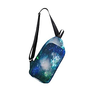 SLHFPX Sling Bag Starry Space Night Sky Mens Chest Shoulder Backpacks Crossbody Travel Bag Pack