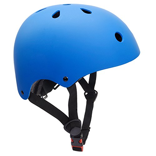 Glaf Adjustable Kids Helmet CPSC Certified Impact Resistance Ventilation for Multi-Sports, Cycling Skateboarding Bike BMX Scooter Toddler Helmet (Blue, Medium)