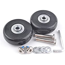 2 Set Luggage Suitcase Replacement Wheels Axles 30 Deluxe Repair 50*18mm