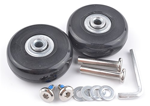 (pranovo 2 Set Luggage Suitcase Replacement Wheels Axles 30 Deluxe Repair 5018mm)