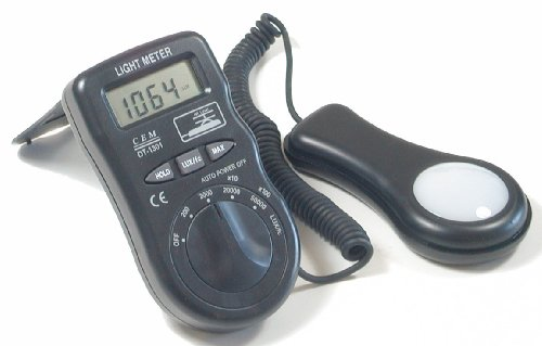 Ruby Electronics DT-1301 Digital LCD Lux Foot-candle Luxmeter Light Meter by Ruby Electronics