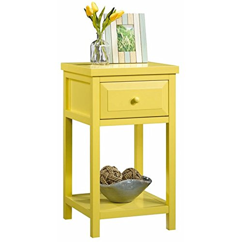 Sauder Cottage Road Side Table, Sunshine Yellow finish