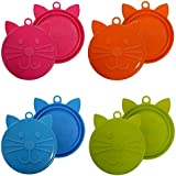 SCREAM Cat Food Can Cover 4Pk, Assorted Colours