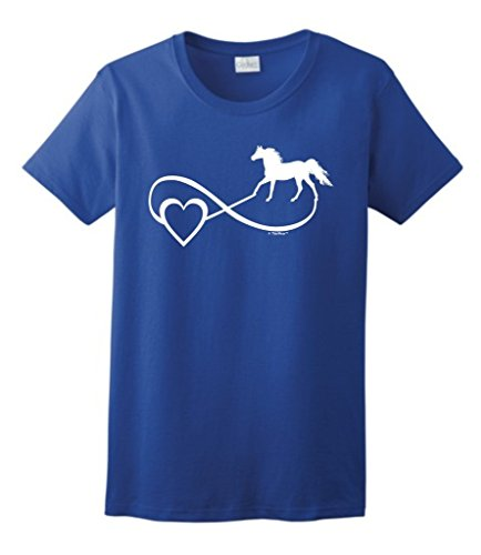 Horse Lover Gift Infinite Love Infinity Symbol Ladies T-Shirt Small Royal