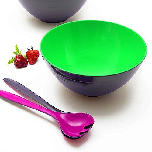 Nero//Bianco ZAK Designs 0535-0425 colore Posate per insalata Duo