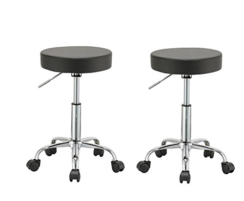 Duhome 2 PCS Height Adjustable Swivel Medical Clinic Tattoo Spa Salon Stool with Wheels