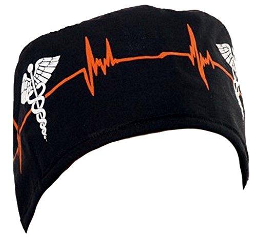 Mens And Womens Medical Scrub Cap - Ekg Signal/Medical Sign
