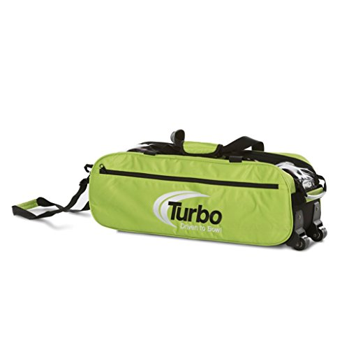 Turbo Express 3 Ball Travel Tote- Lime Green by Turbo Bowling Grips