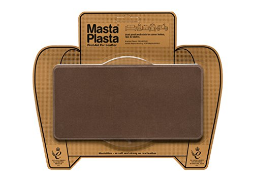 MastaPlasta Self-Adhesive Patch for Leather and Vinyl Repair, Large, Suede, Brown - 8 x 4 Inch