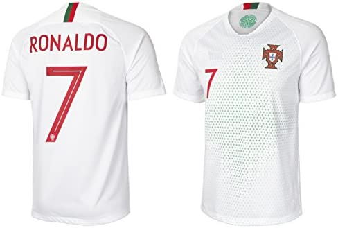 sale retailer 4e3bb 3d920 BFA Portugal Cristiano Ronaldo #7 Soccer Jersey Adult Men's Sizes Away  Football World Cup Premium Gift