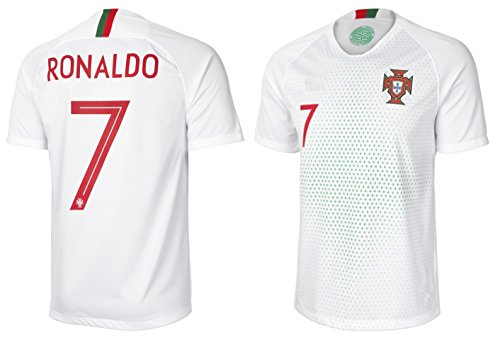 (B.F.A Portugal Cristiano Ronaldo #7 Soccer Jersey Adult Men's Sizes Away Football World Cup Premium Gift (XLarge, Away))