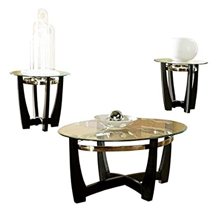 Amazon.com: Steve Silver Matinee 3 Piece Coffee Table Set: Kitchen ...