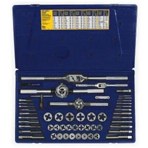 Irwin / Hanson / Vise Grip (HAN24640) 53 Piece Machine Screw / Fractional Tap and Hexagon Die Set