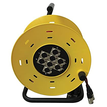 Image of Accu Cable 15m 8 Channel XLR Multicore Cable Drum - Yellow Instrument Cables
