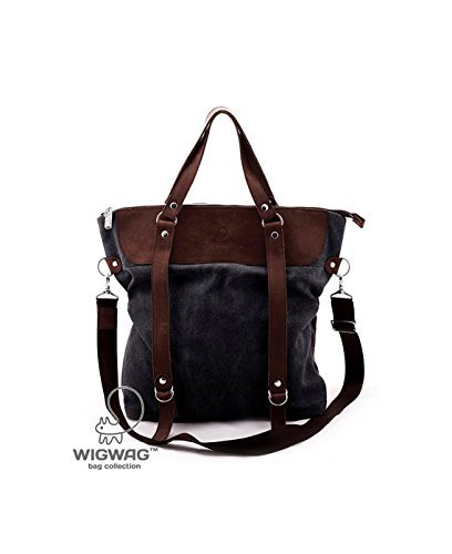 Large women's bag, canvas leather women's bag, women's backpack, canvas leather backpack, convertible bag, crossbody bag, shoulder bag by TM Wigwag