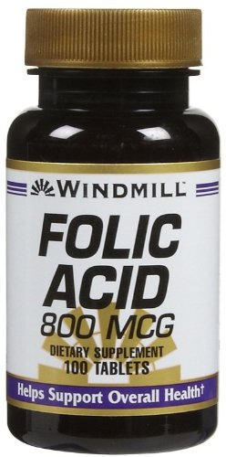 (Windmill Folic Acid 800 Mcg Tabs, 100 ct )