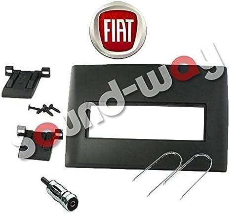 Sound-way Kit Montage Autoradio, Marco 1 DIN Radio de Coche, Adaptador Antena, Llaves Desmontaje compatible con