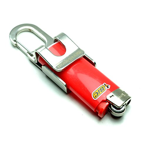 Screwpop Lighter Holder for Bic MINI Multi-tool Key Chain with Bottle Opener and Carabiner Clip