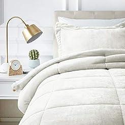 AmazonBasics Micromink Sherpa Comforter ...