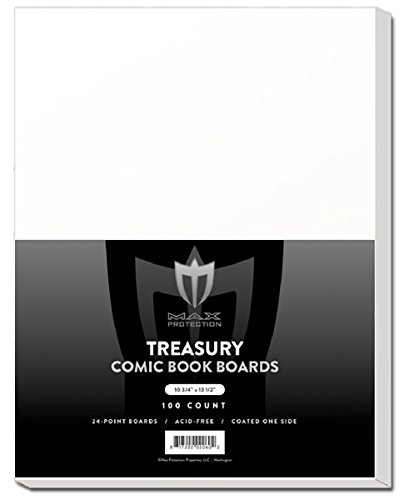 Pack of 100 Max Pro Premium Treasury Size Comic Book Boards by Max Protection