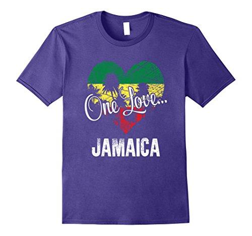 Montego Bay (Mens One Love Jamaica! Caribbean Vacation T-Shirt 2XL Purple)