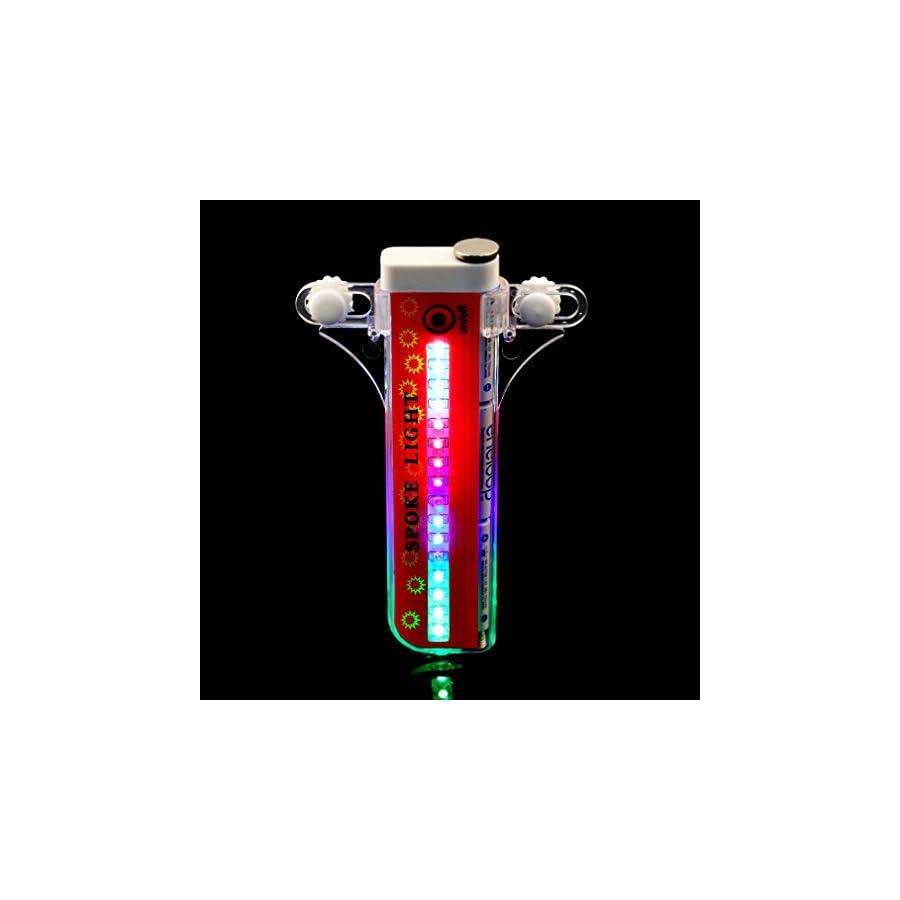 32 LED Bike Wheel Lights, Waterproof Cycling Bicycles Rainbow Wheel Signal Tire Safety Spoke Lights
