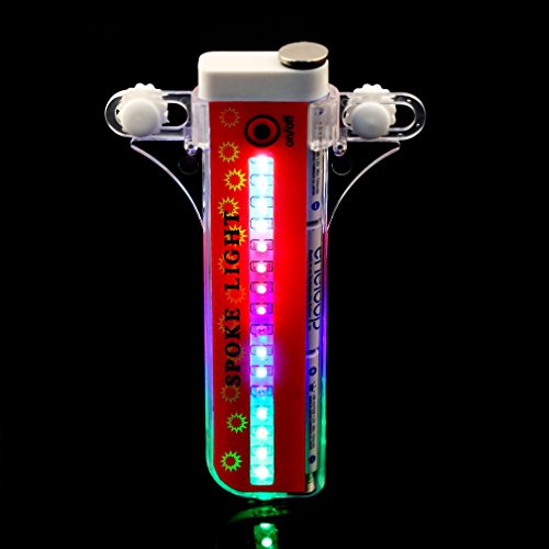 32 LED Bike Wheel Lights, Waterproof Cycling Bicycles Rainbow Wheel Signal Tire Safety Spoke Lights
