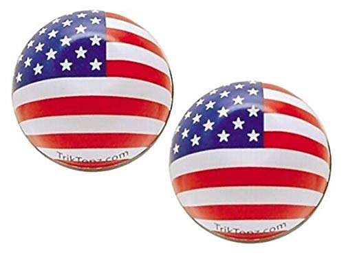 Tuning_Store Motorcycle Accessories American Flag Valve stem caps Universal Fitting Harley Touring dyna softail XL by Tuning_Store