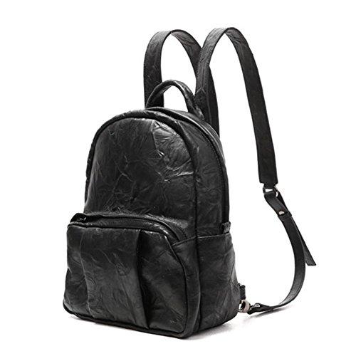 VF P907 Lambskin Backpack Black by Violett-Backpacks