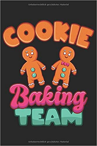 Cookie Baking Team Cool Frohe Weihnachten Notebook