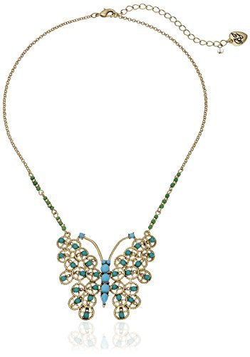 "Boho-Chic Vacation & Fall Looks - Standard & Plus Size Styless - Betsey Johnson ""Boho Betsey"" Butterfly Pendant Necklace, 15.5"" + 3.5"" Extender"