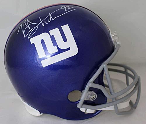 Giants Revolution Helmet - Michael Strahan Autographed New York Giants Current Replica Helmet JSA